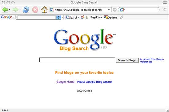 google blog search. Google – Blog Search