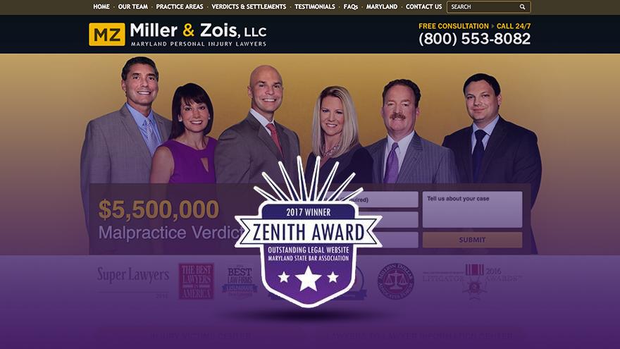 2017 Zenith Award Winner: millerandzois.com