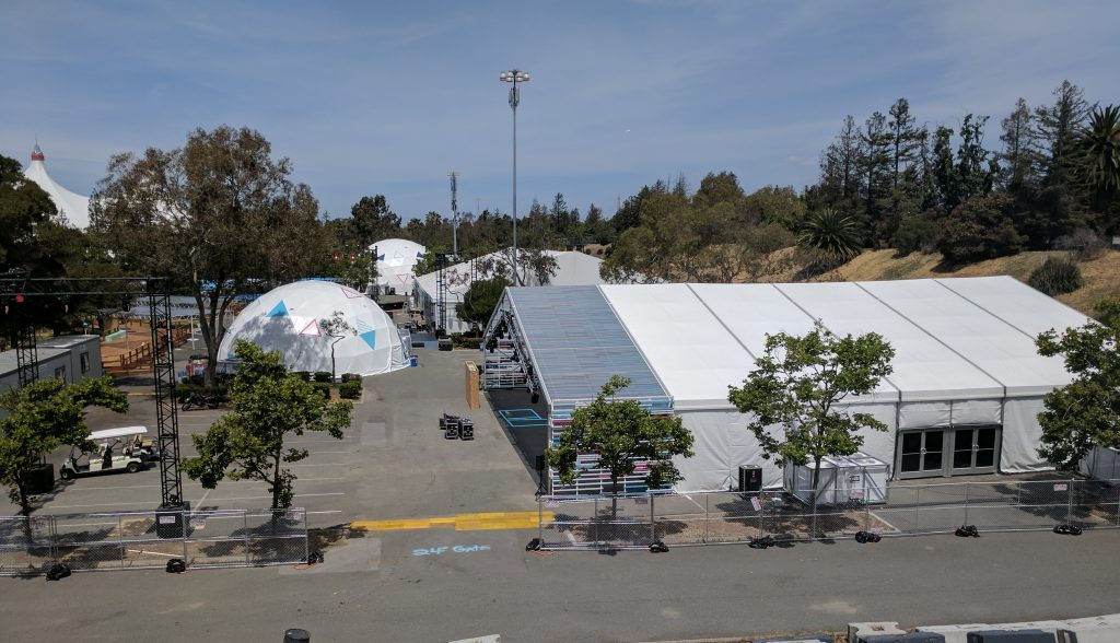 Shoreline Amphitheater prepares for #io17
