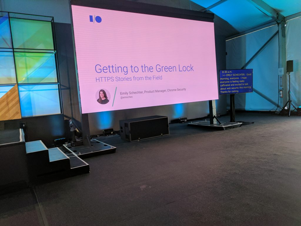 Live Blog: Getting the Green Lock: HTTPS Stories from the Field #io17