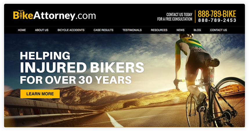The shades of yellow in the header graphic match and complement the firm's logo and the color scheme.