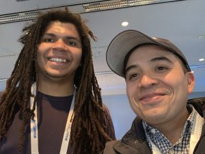Luis hanging out with one of the developers who worked on amp-recaptcha-input
