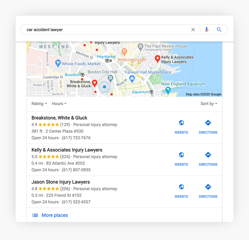 Google Local Search Example