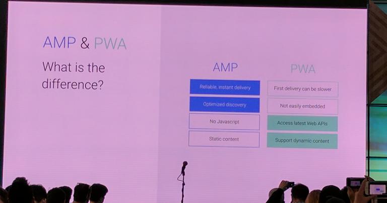 From AMP to PWA: Progressive Web AMPs — Google I/O 2017 Live Blogs
