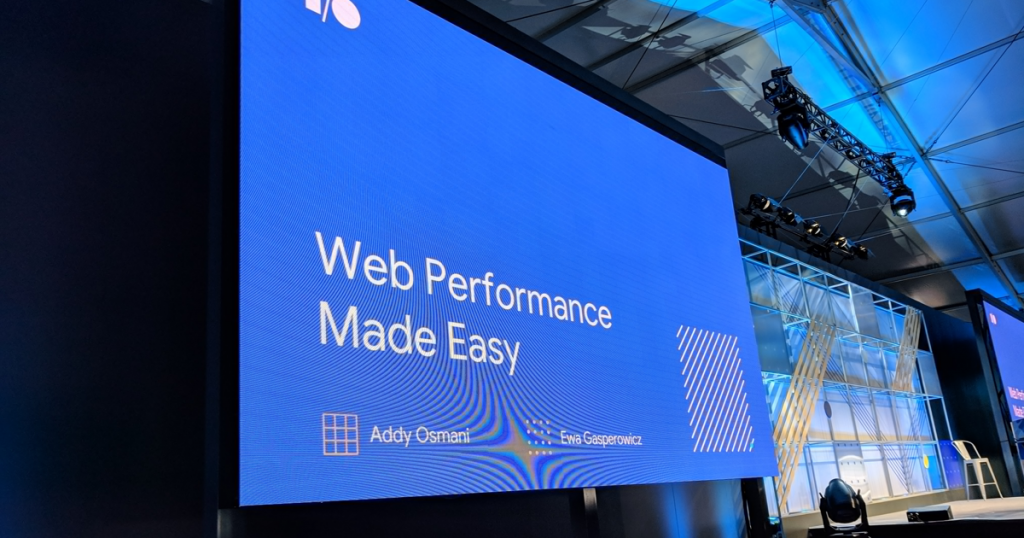 Web performance made easy – #io18 Live Blogs