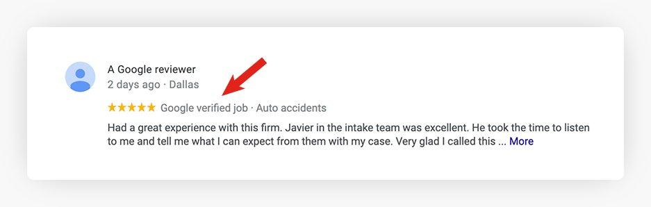 Google Verified Job Review