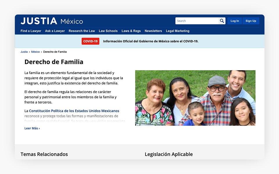 Family Law Content Expanded on Justia Mexico Portal