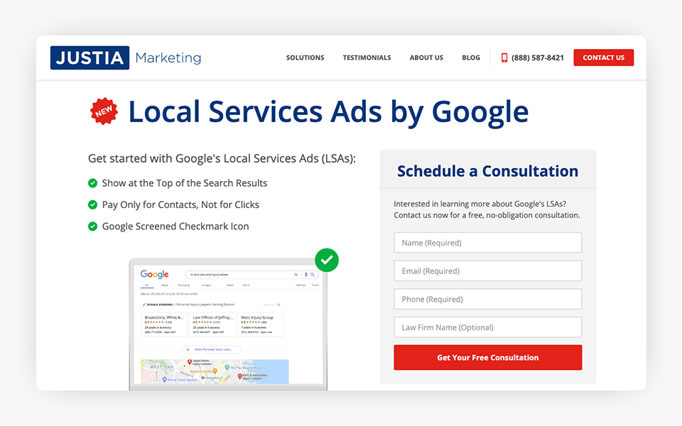 Justia Marketing Professionals Respond to Creation of Google Local Services Ads