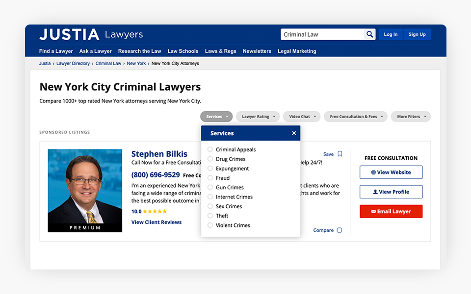 Related Services for Practice Areas Added to Justia Lawyer Directory