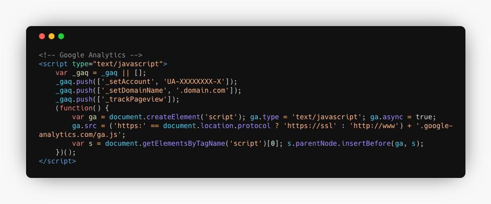 Google Analytics Asynchronous Code Example