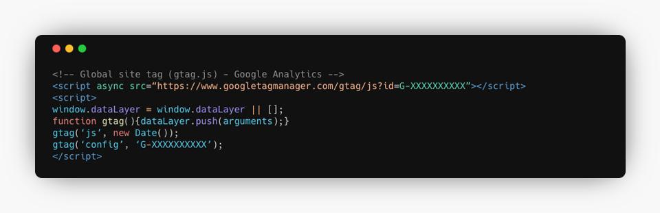 Google Analytics 4 Code Example