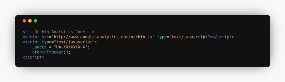 Urchin Analytics Code Example