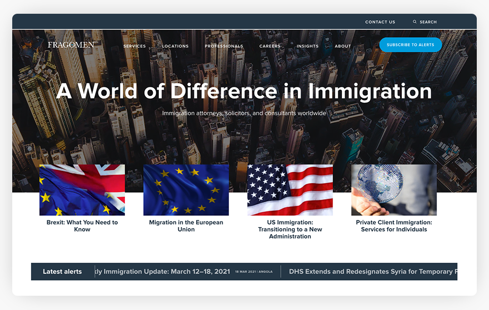 Fragomen Website