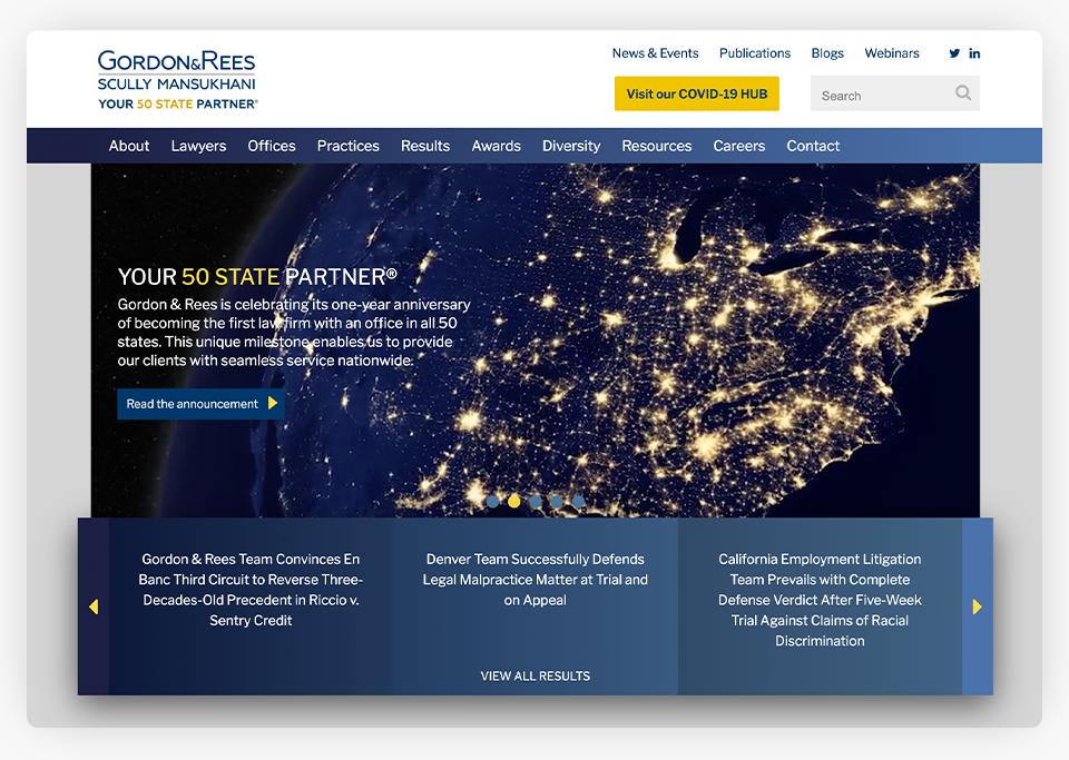 Gordon Rees Website