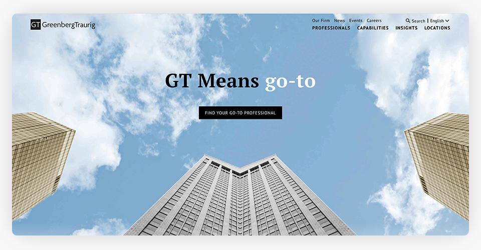 Greenberg Traurig Website
