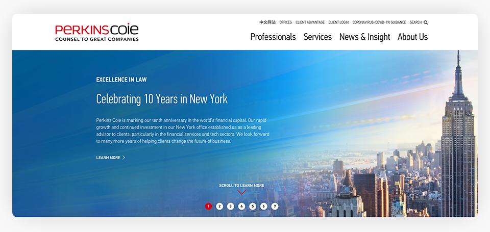 Perkins Coie Website