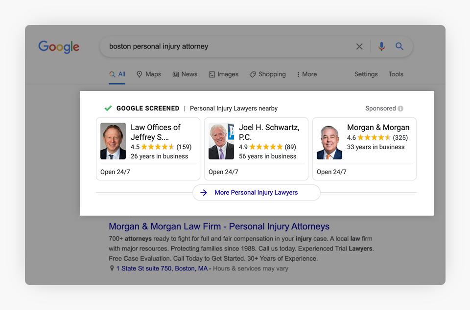 Google Search Results - Boston