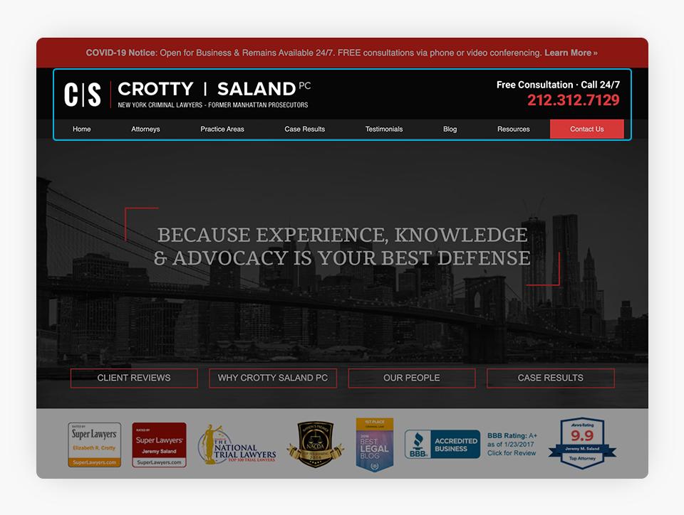 Crotty Saland Website Header