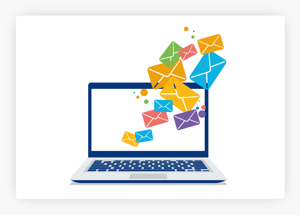 Emails on Computer