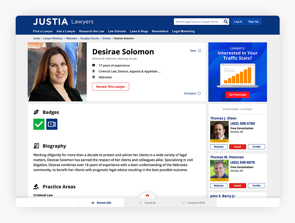 Justia Lawyer Directory - Free Profile
