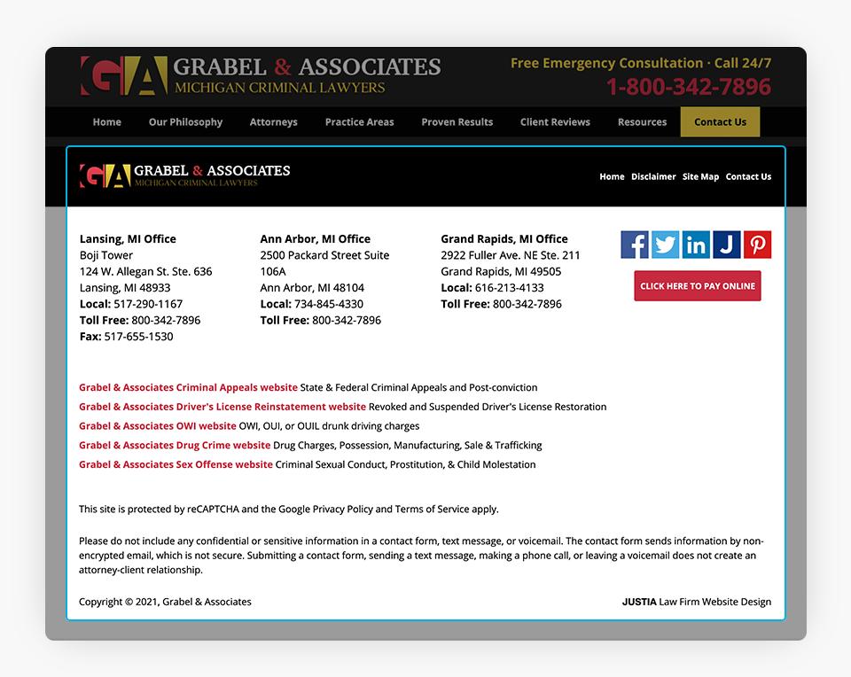Grabel Website Footer