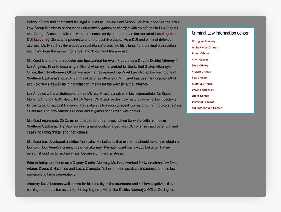 Kraut Website Sidebar