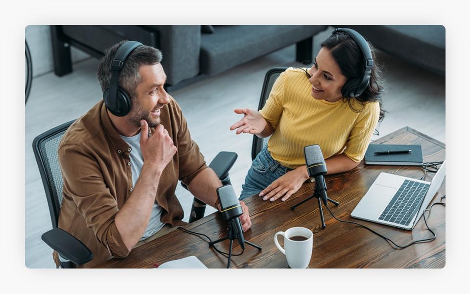 Radio Host Interviewing Guest