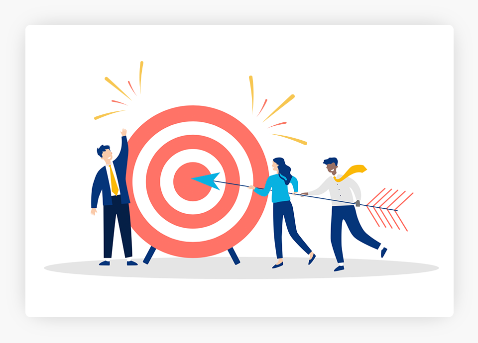 People Using Arrow to Hit a Target