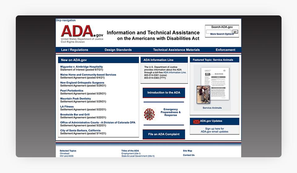A.D.A. Website