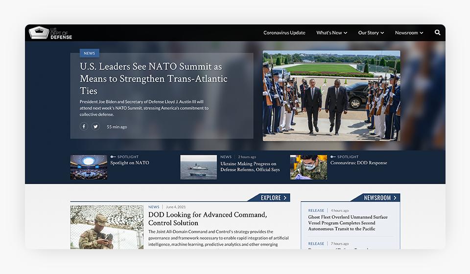 U.S. Department of Defense Website