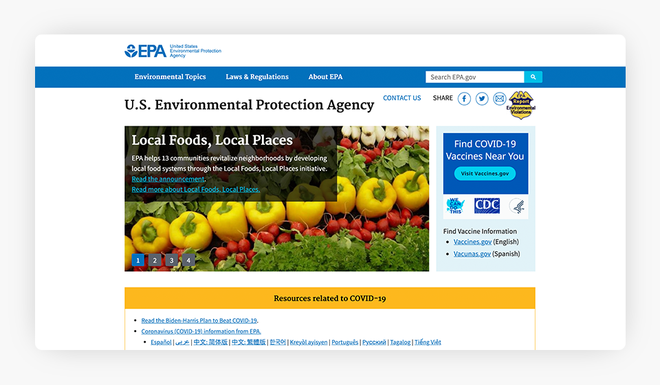 U.S. Enviromental Protection Agency