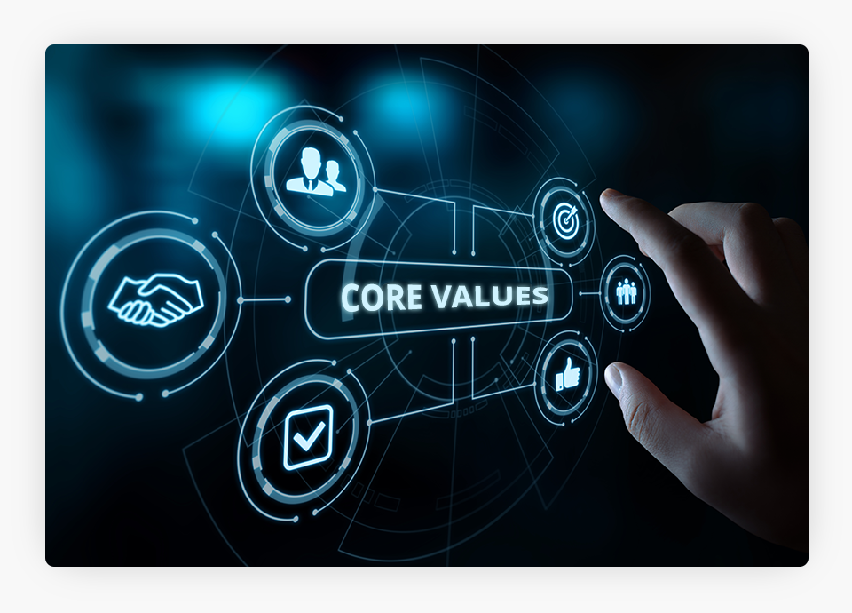 Hand Selecting Core Values
