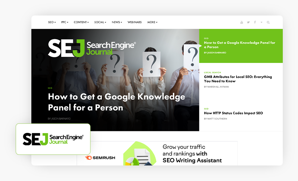 Search Engine Journal Homepage