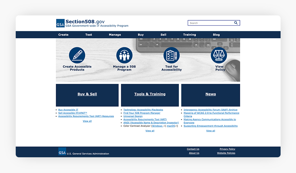 Section 508 Website