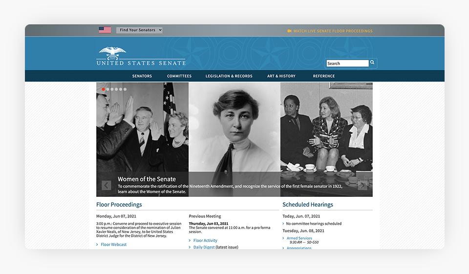 U.S. Senate Website