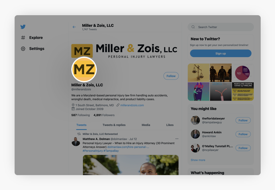 Miller And Zois Twitter Account