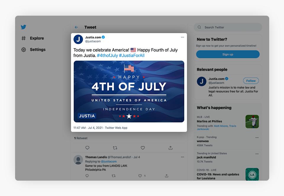 Tweet 4th of July