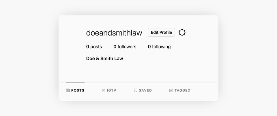 Instagram - Edit Profile