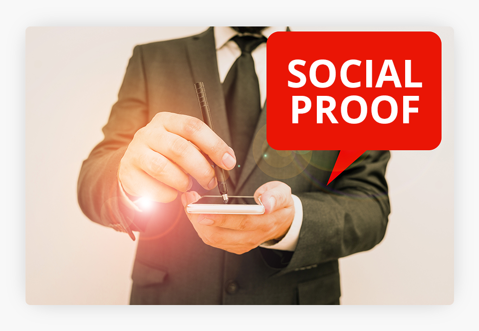 Social Proof Bubble on Phone
