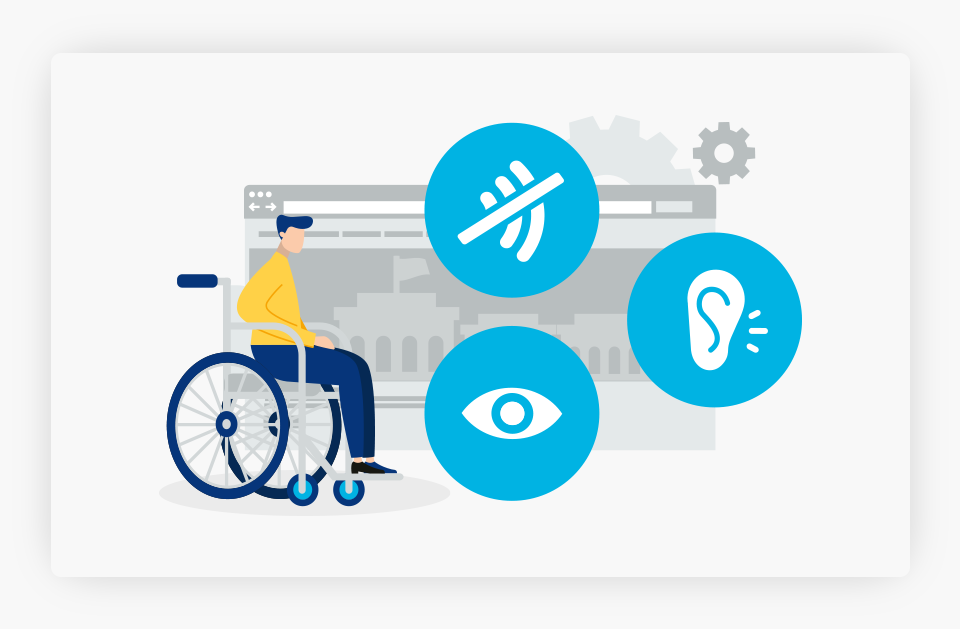 Disabled Person Accessing Website