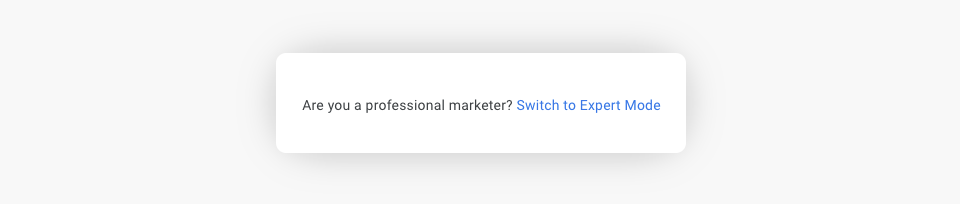 Google Ads - Expert Mode