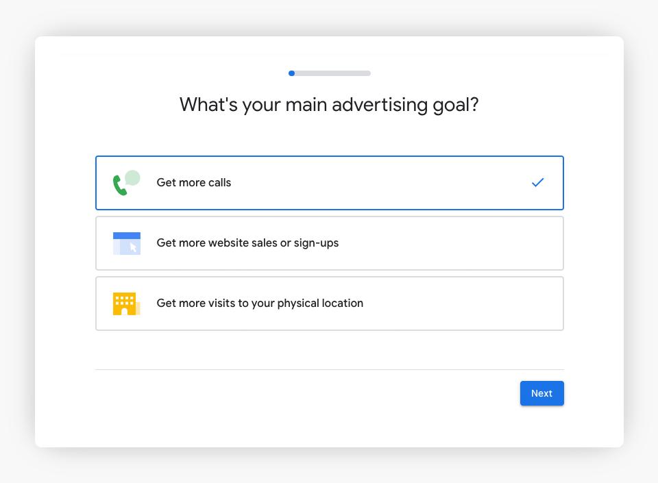 Google Ads - Goals