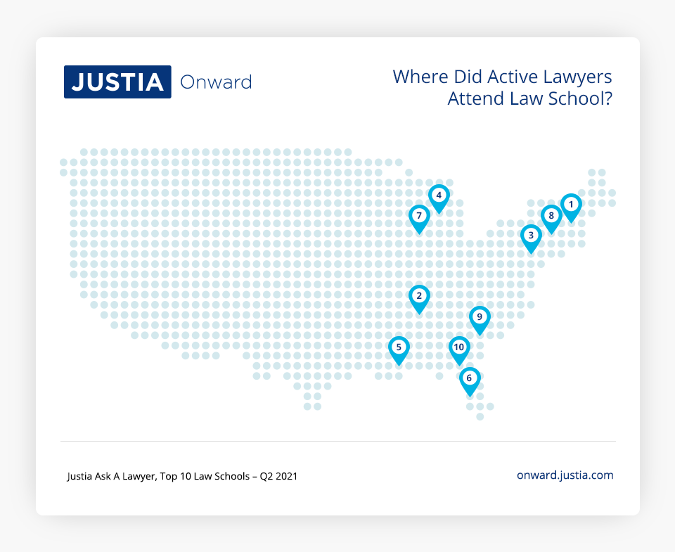 Justia Ask A Lawyer, Top 10 Law Schools