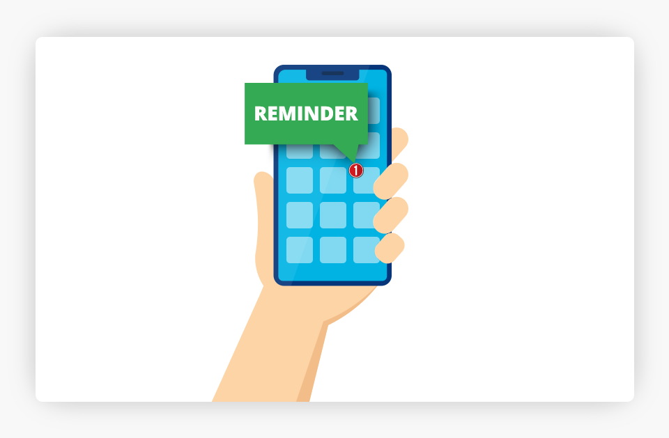Reminder on Cell Phone